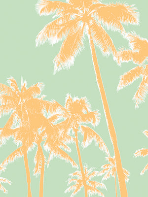 Retro Palms 1 Canvas Art