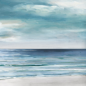 Blue Silver Shore II Canvas Art