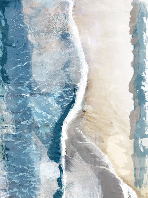 Coastal Abstraction I Canvas Art