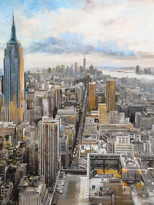 Daybreak Manhattan Canvas Art