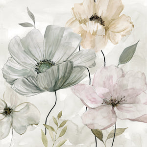 Garden Grays Detail II Canvas Art