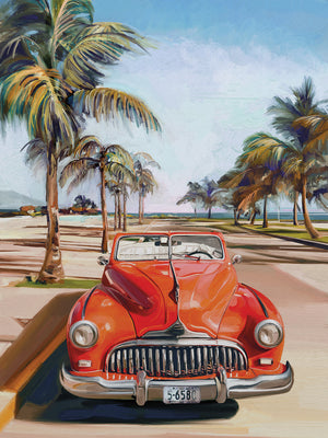 Retro Beach Day I Canvas Art