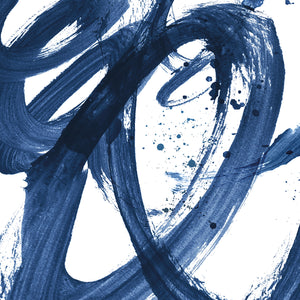 Indigo Brushstrokes Canvas Art