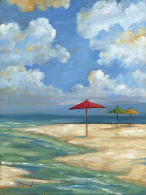 Umbella Beachscape Canvas Art