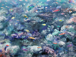 Underwater Colors I Canvas Art