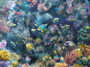 Underwater Colors II Canvas Art