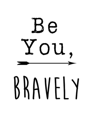 Be You Bravely Canvas Art