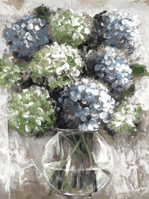 Hydrangea Study Blues Canvas Art