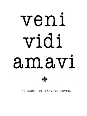 Veni Vidi Amavi Canvas Art