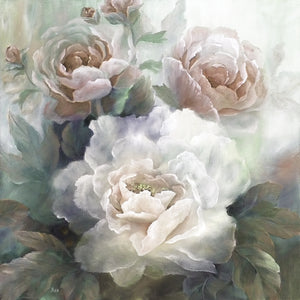 White Roses III Soft Canvas Art