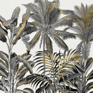 Golden Tropics Canvas Art
