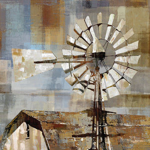 Long Barn Windmill Canvas Art