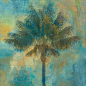 Palm and Blue Canvas Art