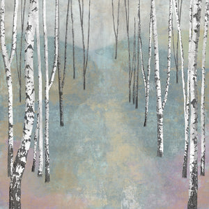 Silver Trees Path I Canvas Art