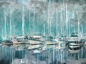 Harbor Masts Canvas Art