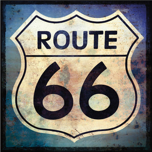 Route 66 Sign Canvas Art
