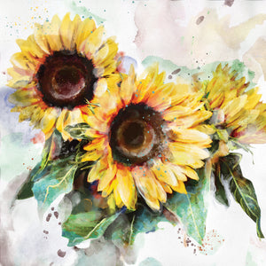 Sunflower Trio Canvas Art