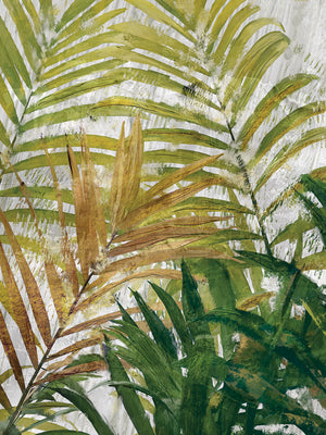 Tropical Fronds Portrait Canvas Art