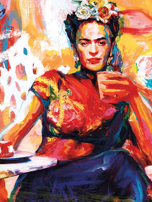 Frida Coffee Break Canvas Art