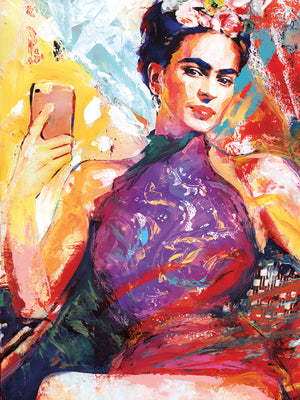 Frida Selfie  Canvas Prints