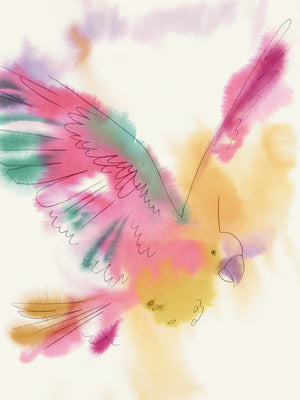 Paradise Parrot Glide Canvas Art