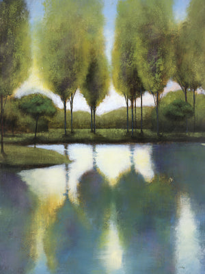 Trees in Reflection Canvas Art