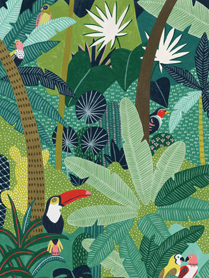 Tropical Aves Canvas Art