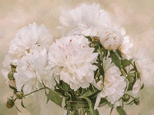 Peonies Blanc Canvas Art