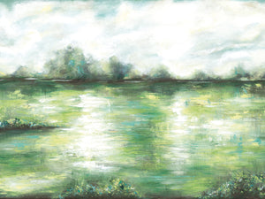 Fresh Green Landscape I Canvas Art