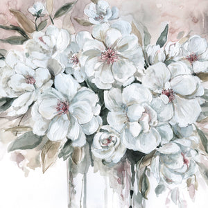 Blushing Bouquet Canvas Art