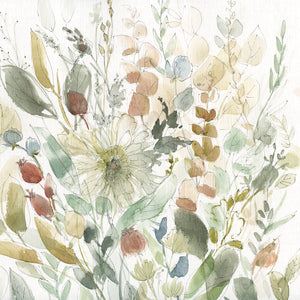Linen Wildflower Garden Canvas Art