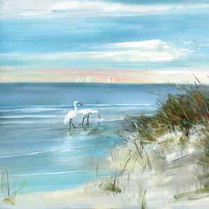 Shore Fishing Canvas Art