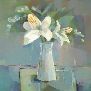Lillies and Freesias Canvas Art