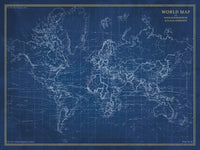 Navigator World Map Canvas Art