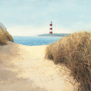 Beach Path Square Canvas Print