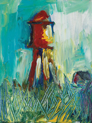 Painted Water Tower Canvas Art