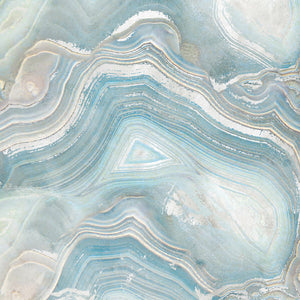 Agate in Blue I Canvas Art