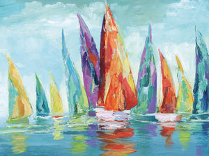 Fine Day Sailing I Canvas Art
