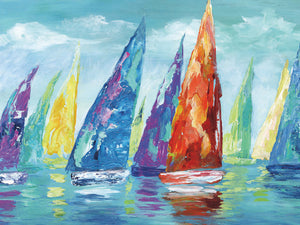 Fine Day Sailing II Canvas Art
