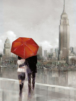 Modern Couple in NY Canvas Art