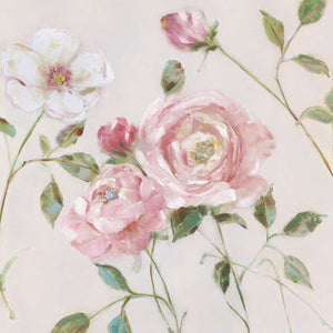 Cottage Sweet Roses I Canvas Art