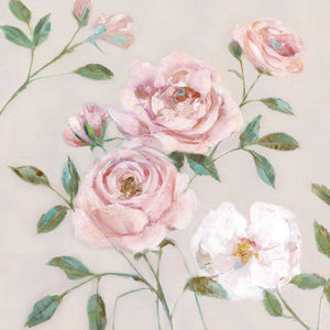 Cottage Sweet Roses II Canvas Art