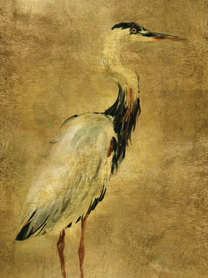 Gold Crane at Dusk I Canvas Art