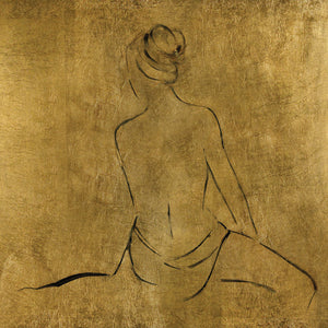 Golden Bather II Canvas Art