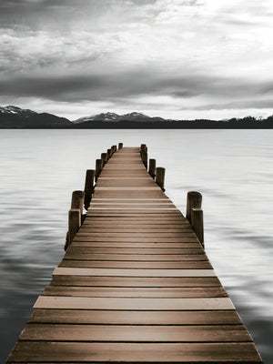 Mountain Jetty Canvas Art