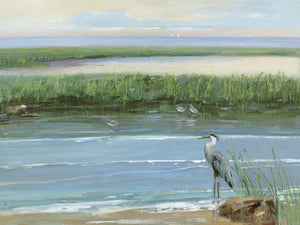 Wading at Dusk Canvas Art