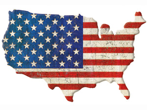 American Cut Out Canvas Art