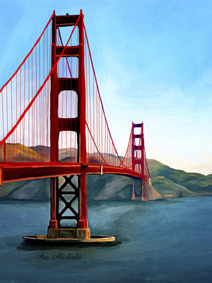 Golden Gate Bridge Canvas Art