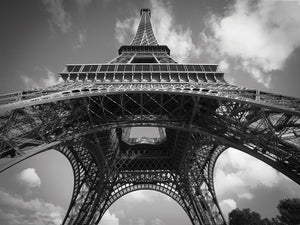 Eiffel 7 BW Canvas Art