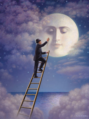 Man With Moon Canvas Art